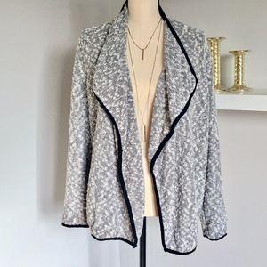 Ellen Tracy Elbow-Patch Knit Cardigan Size M/L